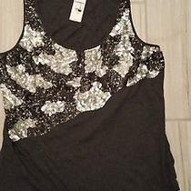 Express Sequin Tank Top.  New.  Size M Photo