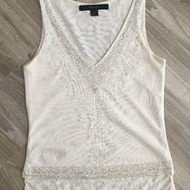 Express Sequined Mesh v-Neck Tank Xs Photo