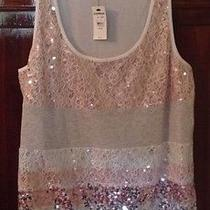 Express Sequined Tank Size M New With Tags Photo