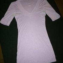Express Sexy Basic Vee Womans Purple Top Size Medium Free Shipping Photo