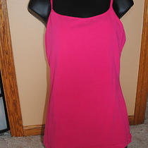 Express Sexy Basix Cami With Shelf Bra . Size Large. Bright Pink Photo