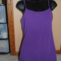 Express Sexy Basix Cami With Shelf Bra . Size Large. Bright Purple Photo