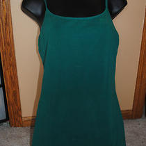 Express Sexy Basix Cami With Shelf Bra . Size large.dark Green Photo