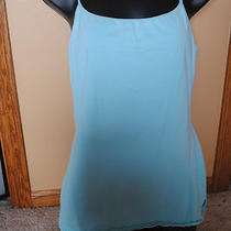 Express Sexy Basix Cami With Shelf Bra . Size Large. Sky Blue Photo
