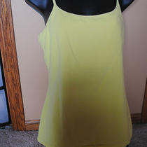 Express Sexy Basix Cami With Shelf Bra . Size Large. Yellow Photo