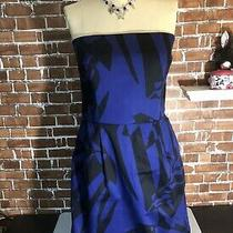 Express Sexy but Classy Blue/black Cocktail Strapless Dress Size 10 Photo