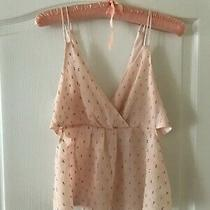 Express Sexy Cut Out Sphagetti Strap on Sheer Top Size Xs Camisole Photo