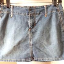 Express Sexy Little Jean Skirt Size 4 Photo