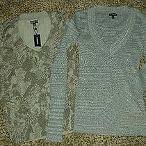 Express Shimmer v-Neck Sweaters Lot Size S Nwt Photo