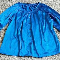 Express Shirt Size Large L - Blue Photo
