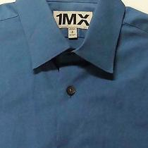 Express Shirt Small 14 - 14.5 1mx Fitted Heather Blue 14 1/2 Button Down Shirt S Photo