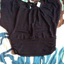 Express Shirt Xs Nwt Peep-Hole Back Banded Bottom Photo