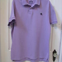 Express Short Sleeve Polo Golf Shirt Sz Xl Purple W Navy Lion Honor Logo Euc Photo
