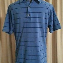 Express Short Sleeve Striped Polo Rugby Mens Shirt Size M  Photo