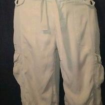 Express   Silk Khaki Cargo Shorts  Euc  Size 8  Free Gift Photo