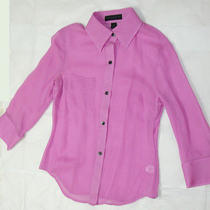 Express Silk Purple Shirt Xs Photo