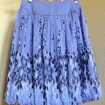 Express Silk Skirt Size 2 New Ship Free Fully Lined   Photo