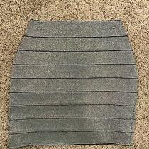 Express Silver Bandage Pencil Skirt New With Tags Size S Photo