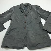 Express Silver Blazer Womens Size 7 / 8 Button Solid  Photo