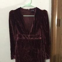 Express Size 0 Deep v Padded Shoulder Velvet Dress Photo