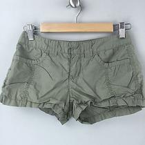 Express Size 0 Women's Shorts Green Mini Khaki  Photo