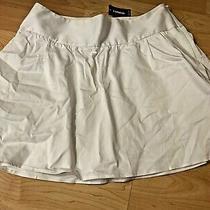 Express Size 10 White Nwt Mini Skirt Flare Skirt  Photo