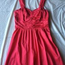 Express Size 12 Red Pink Empire Waist Dress Casual Wear Dress Photo