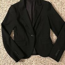 Express Size 2 Black Women's One-Button Blazer Collar Pockets Fully Lined Photo