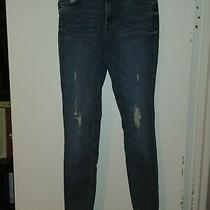 Express Size 4 Distressed Jeans Ultimate Stretch Legging High Rise Photo