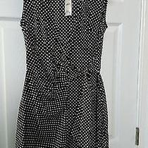 Express Size 4 Nwt Wrap Dress Black & White Polka Dots Photo