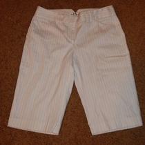 Express Size 4 Shorts White W Black Stripes Euc Editor Style Long Shorts Photo