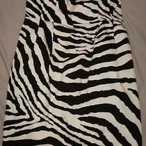 Express Size 4 Zebra Print Strapless Dress Photo