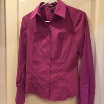 Express Size 6 Button Up Pink Blouse Photo