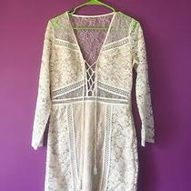 Express Size 8 Lace Dress - Long Sleeve - Corset Tie Length 34 Photo