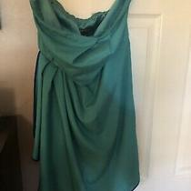 Express Size 8 Strapless Green/ Blue  Dress Photo
