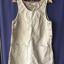 Express Size M Khaki Beige Dress Mid-Calf Jumper Overalls 100% Cotton Photo