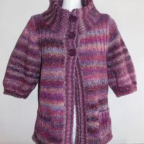 Express Size M Purple Ombre Cardigan Sweater  Sleeves Photos & Measurements Photo