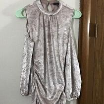 Express Size M Velvet Cold Shoulder Dress Photo