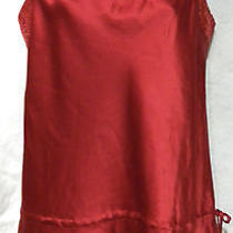 Express Size S Silk Blend Red Satin Top With Sequins Photo