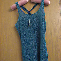 Express Size S Women's Tank Sparkles With Matching Earrings and Ring Photo