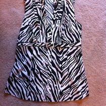 Express Size Small Black and White Zebra Print Sleeveless Top Photo