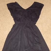 Express Size Small Black Dress Lined Cap Sleeve Short Mini Euc Photo