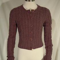 Express Size Small Purple Acrylic / Merino Wool Blend Sweater / Cardigan Photo