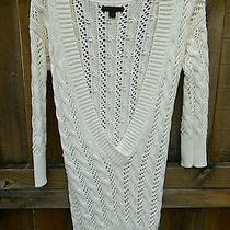 Express - Size Small - Sweater Dress Fall Winter White - Great With Leggings Photo