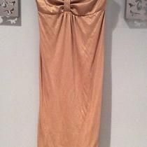 Express Size Xs Gold Strapless Lined Dress Photo