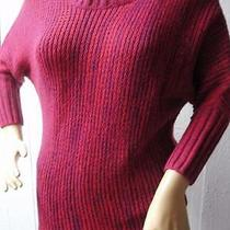 Express Size Xs Pink Purple 1/2 Sleeve Acrylic Wool Light Knit Shirt Sweater Photo