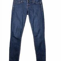 Express Skinny Jeans Dark Wash Low Rise Size 2 Photo