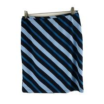 Express Skirt S Blue Stripes Ladies Polyester Elastic Waist Photo