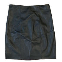 Express Skirt Size 4 Black Faux Leather High Waist Knee Length Pencil  New Photo