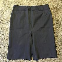 Express Slate Blue Straight/pencil Skirt Size 4 Flattering Fit Fz7 Photo